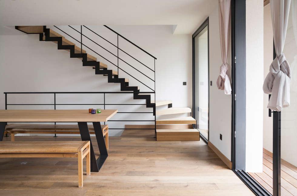 Maison Ossature Bois: Lieux d'événements de style  par Tempobois®- C-tempo SAS