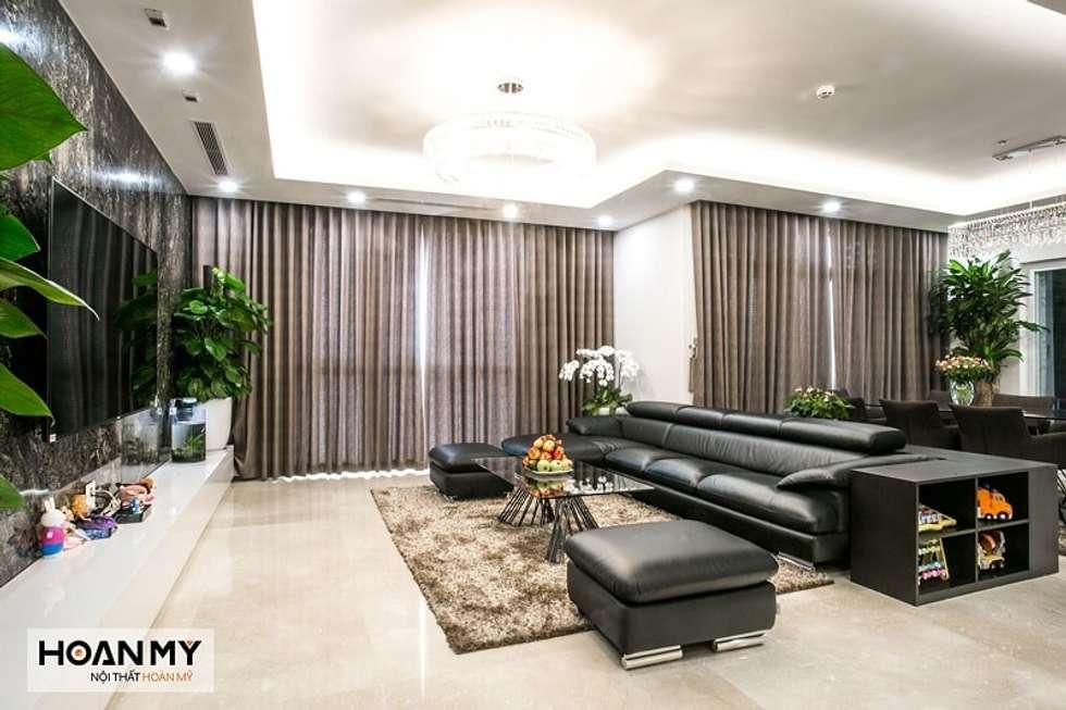 Hình ảnh dự án căn hộ Roya City:  Phòng khách by Thương hiệu Nội Thất Hoàn Mỹ