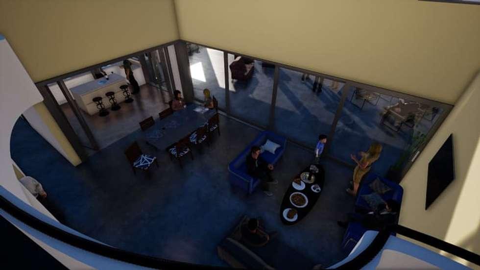 Doble altura: Livings de estilo clásico por BIM Urbano