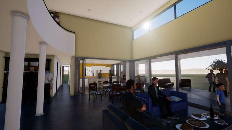 Expansión del living-comedor: Livings de estilo clásico por BIM Urbano