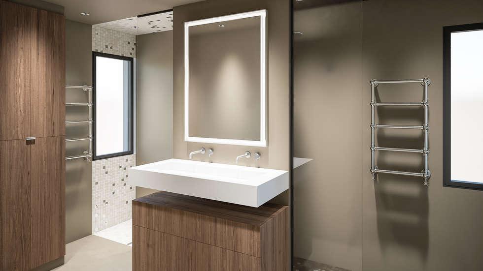 Evier de salle de bain : Salle de bains de style  par réHome
