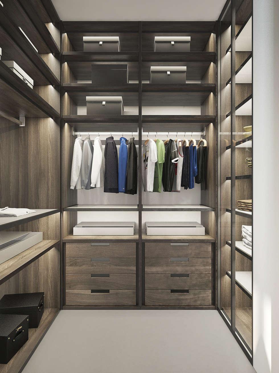 Dressing en bois: Dressing de style de style Moderne par réHome