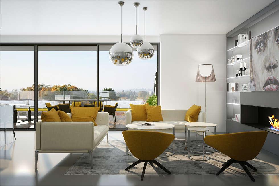 Salon design: Salon de style de style Moderne par réHome