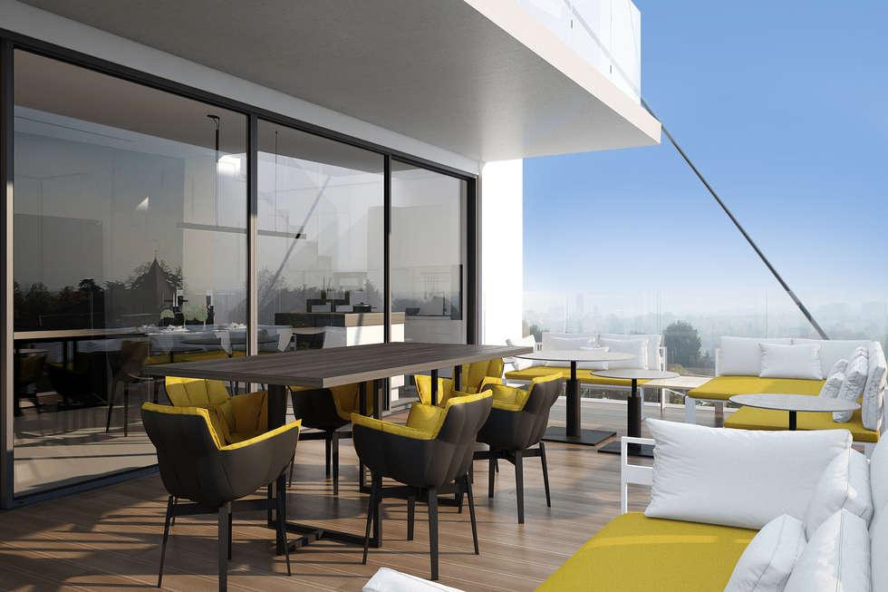 terrasse dernier étage: Terrasse de style  par réHome
