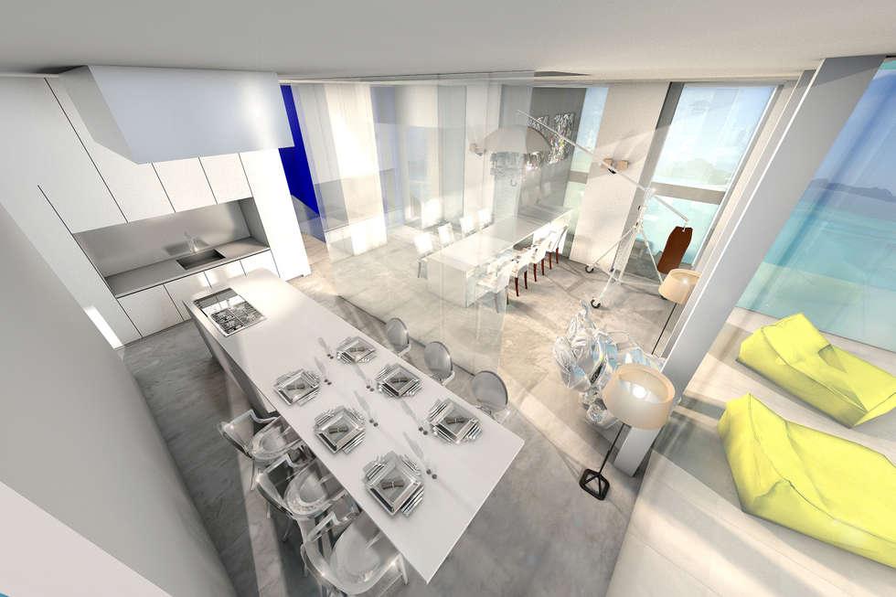 Salon transparent: Salon de style de style Moderne par réHome