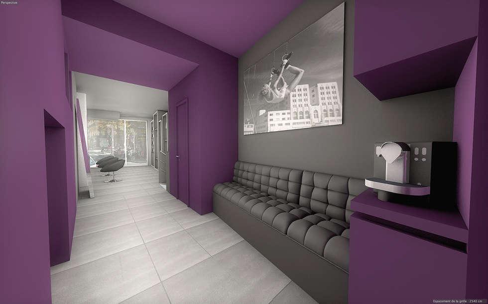 Salle d'attente : Locaux commerciaux & Magasins de style  par réHome