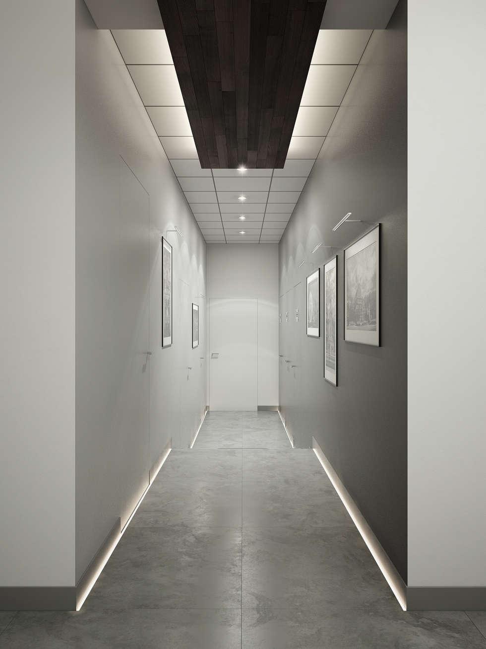 Couloir : Bureaux de style  par réHome