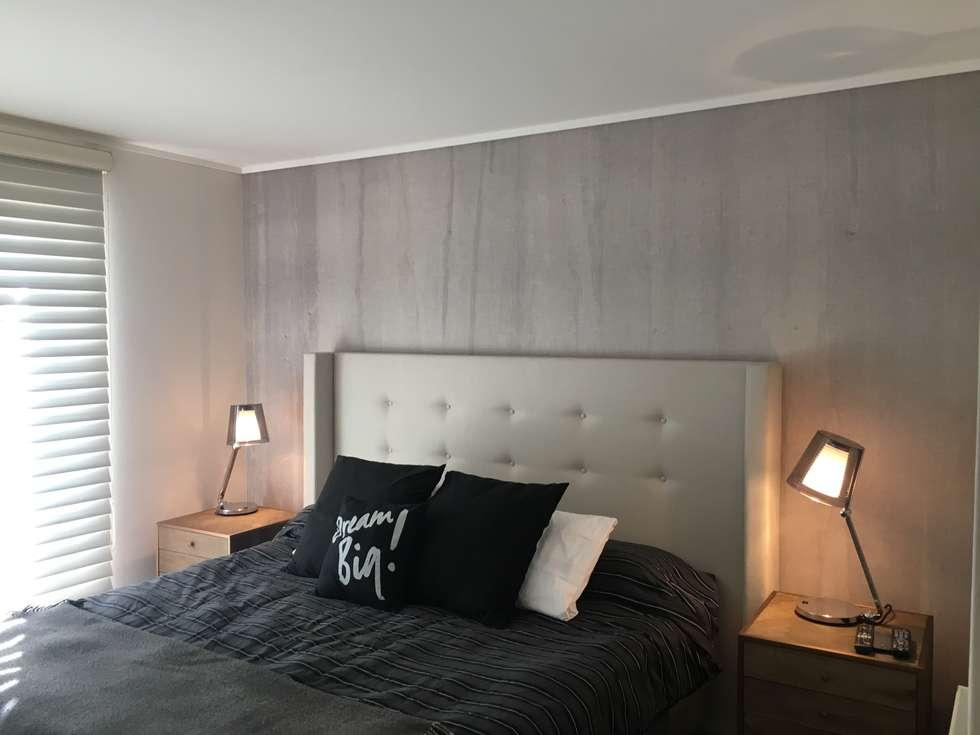 Dormitorio Principal : Dormitorios de estilo industrial por Kaa Interior