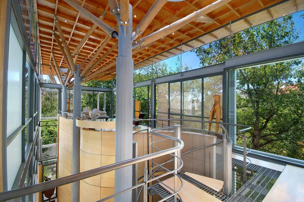 Main Entrance & Lounge: modern Living room by Van der Merwe Miszewski Architects