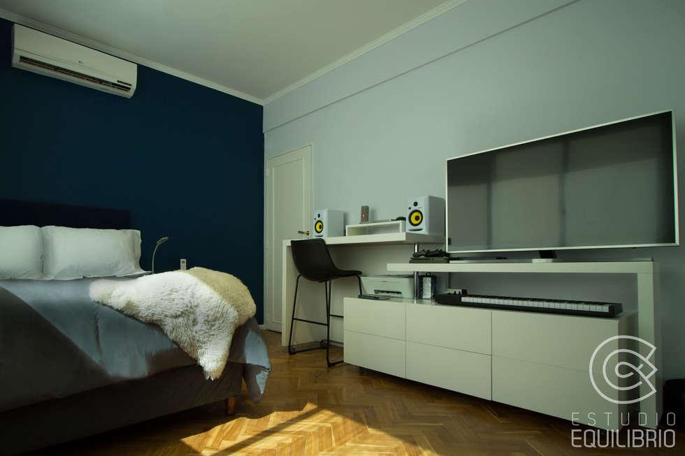 Proyecto Habitación Cerviño: Dormitorios de estilo moderno por Estudio Equilibrio