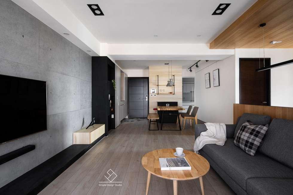 公共空間:  地板 by 極簡室內設計