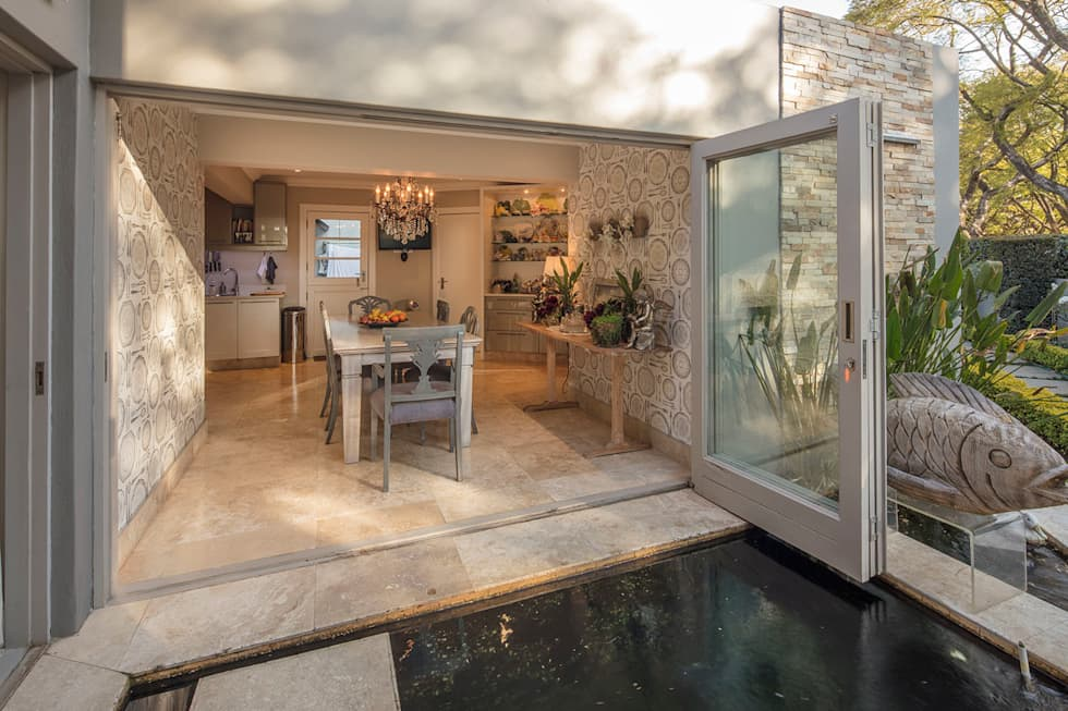 The Dining Room View:  Sliding doors by Spegash Interiors