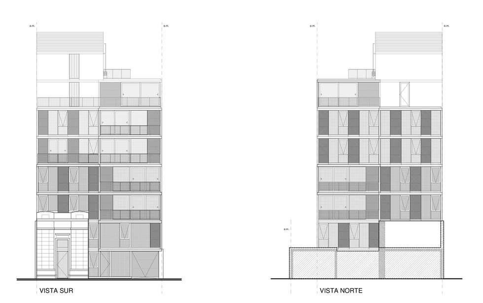EDIFICIO ANDES - Autores: Estudios Mauricio Morra Arquitectos, Diego Figueroa Arquitecto y Estudio Arte de Dos : Terrazas de estilo  por Mauricio Morra Arquitectos