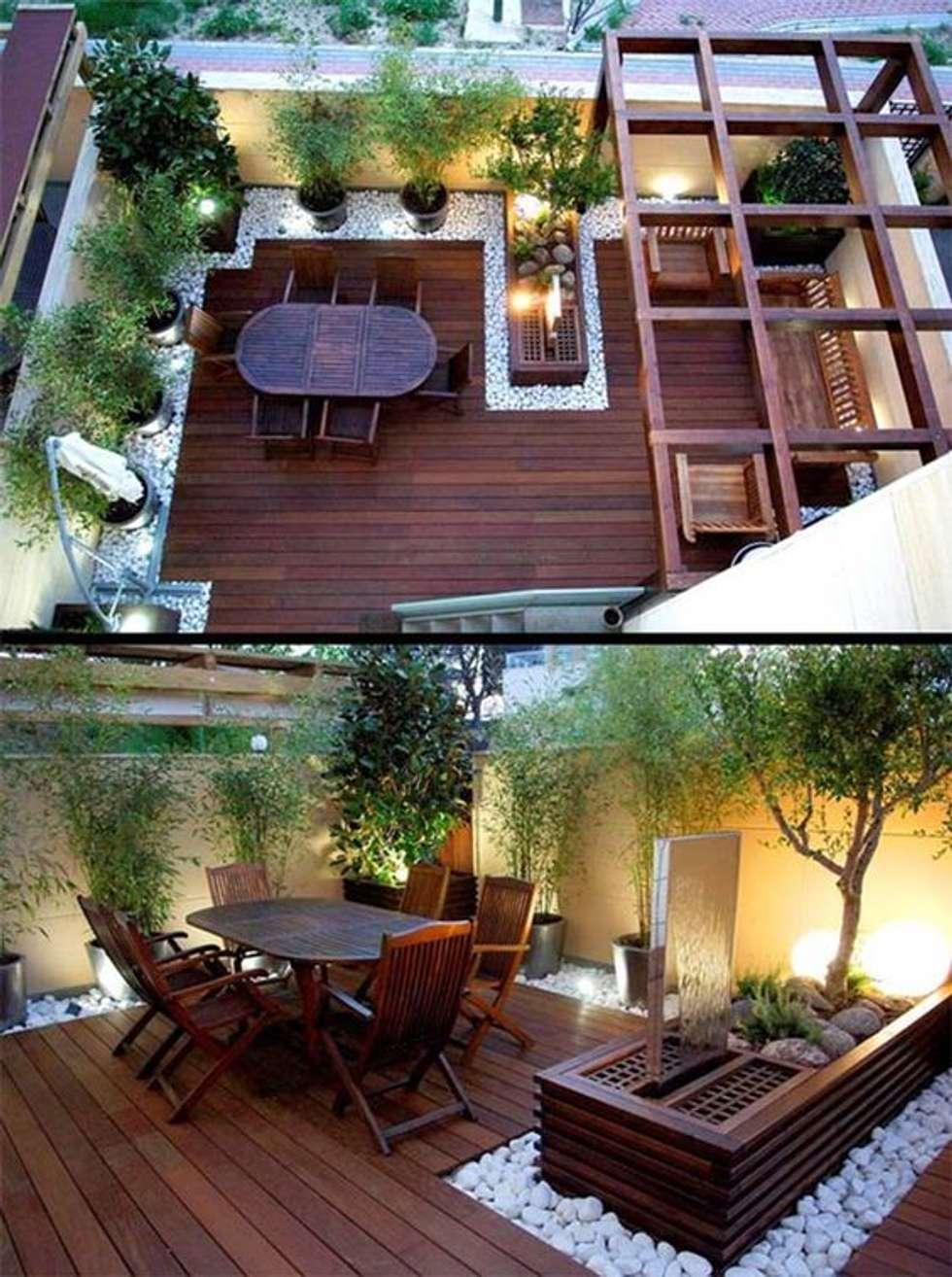 Hiên, sân thượng by laixaynhapho92