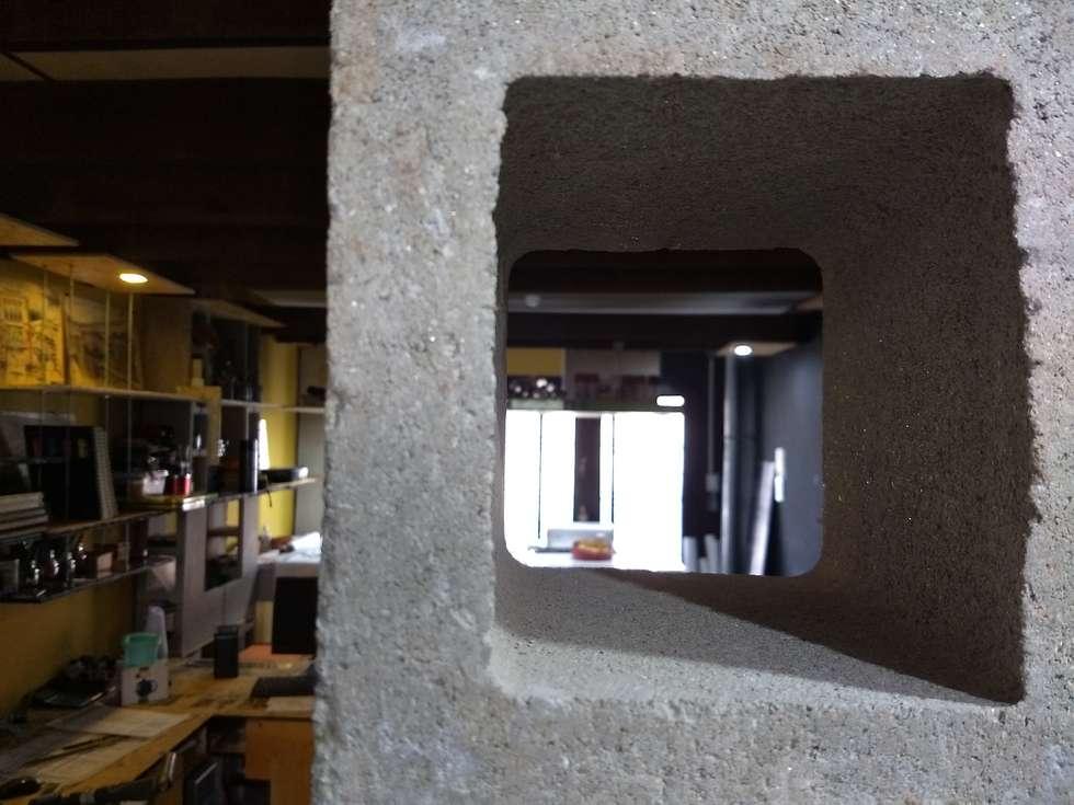 Muro celosia: Edificios de Oficinas de estilo  por estudioZBR & asociados