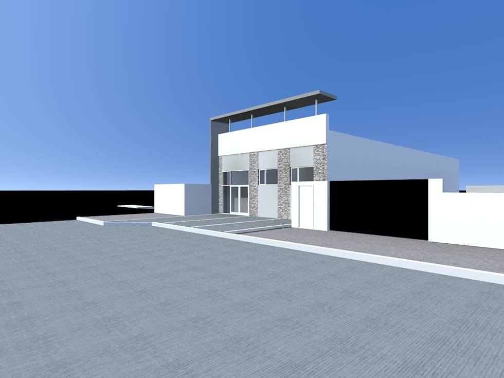 Vista lateral derecha: Estancias de estilo  por Arquitecto Pablo Briguglio