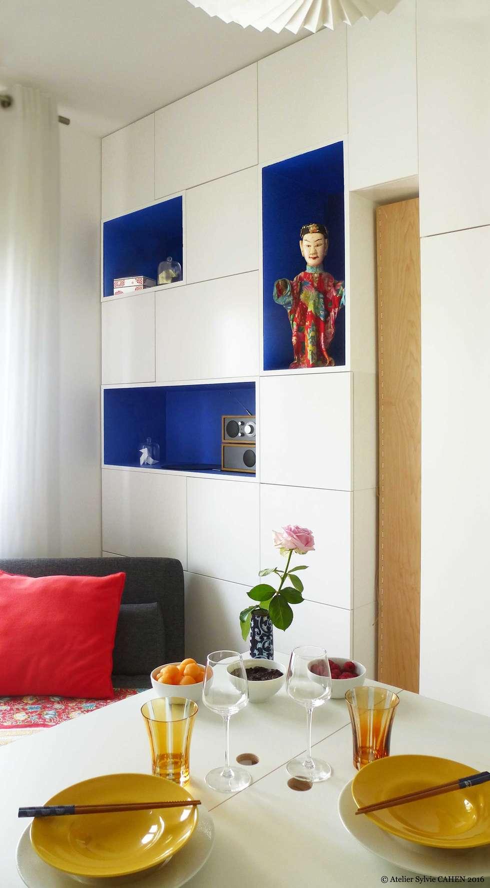 ORIGAMI: Salon de style de style Moderne par Atelier Sylvie Cahen