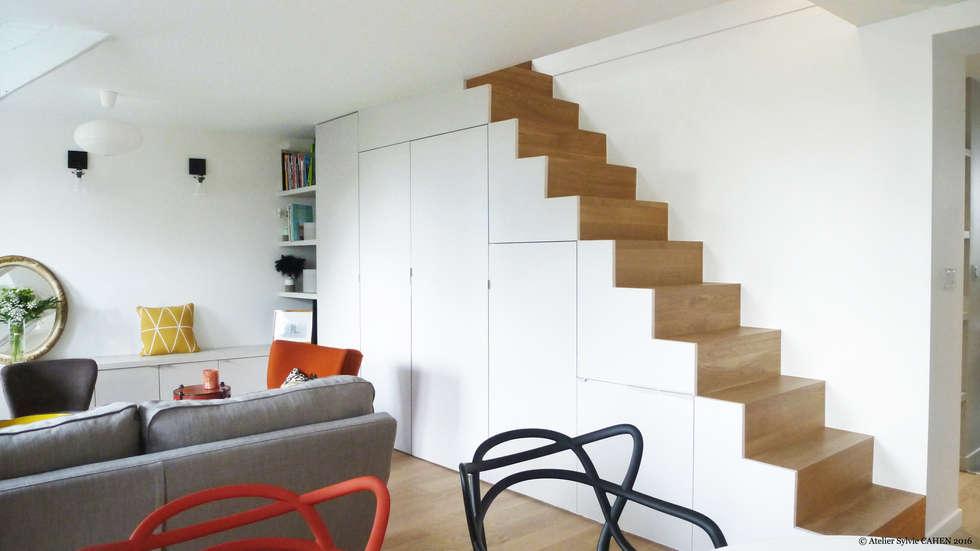 Avenue de Choisy: Escalier de style  par Atelier Sylvie Cahen