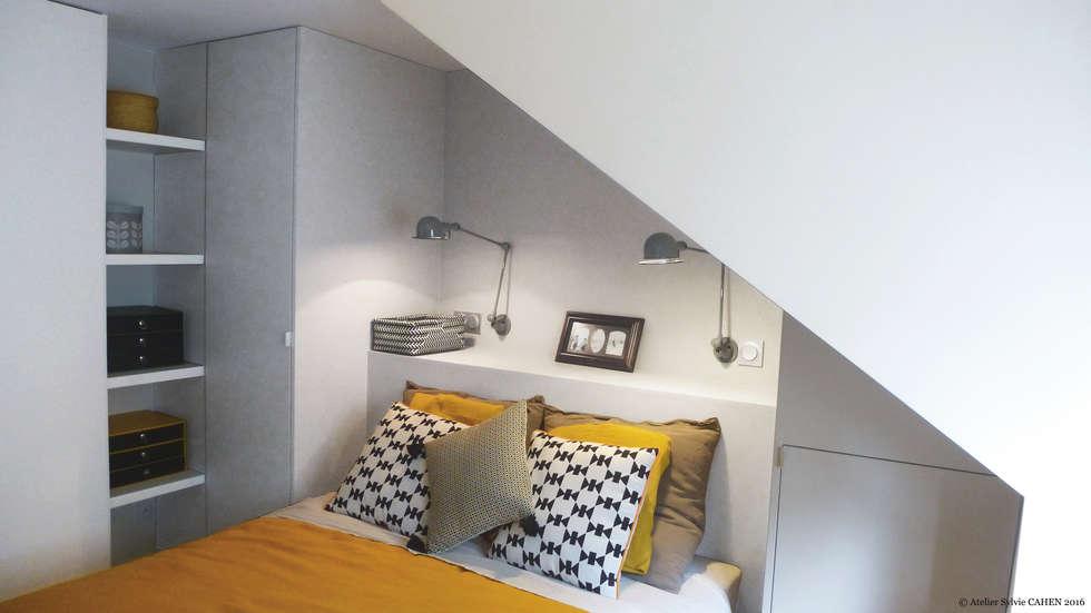 Avenue de Choisy: Chambre de style de style Moderne par Atelier Sylvie Cahen