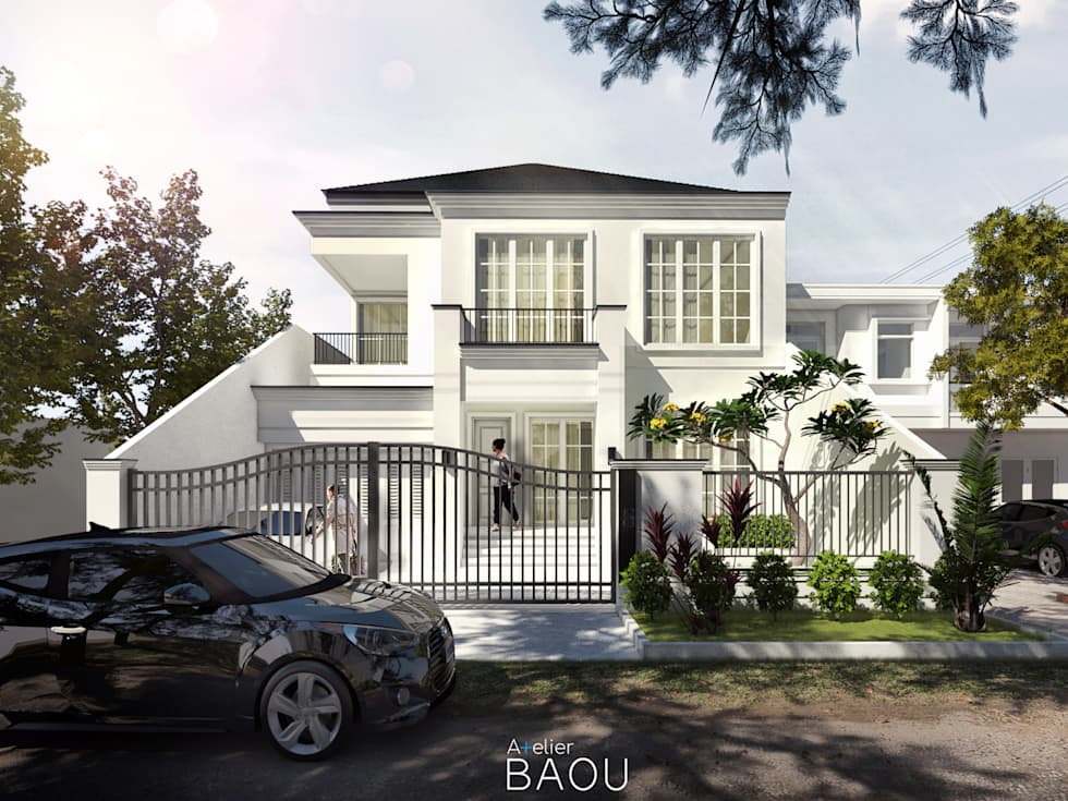 W HOUSE:  Rumah tinggal  by Atelier BAOU+