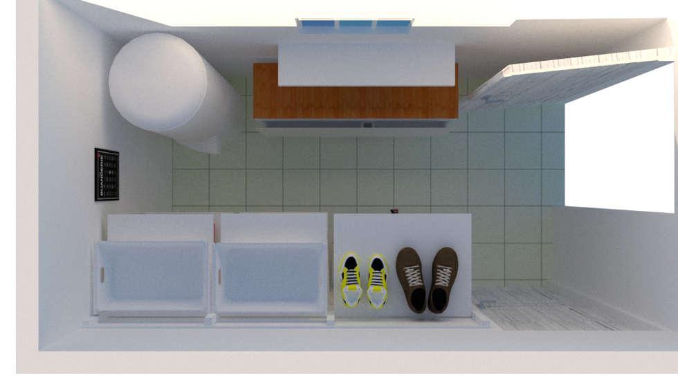 vue axonométrique du cellier: Cuisine de style de style Classique par S'PACE HABITAT / S'PACE HOME DESIGN
