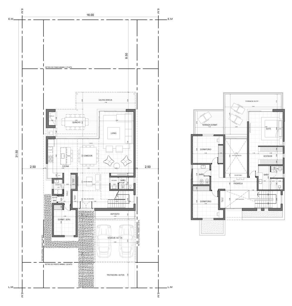 Casa H - BARRIO PRIVADO: Casas de campo de estilo  por Dsg Arquitectura