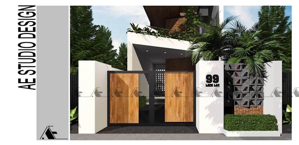 CHI HOUSE:  Nhà by AE STUDIO DESIGN