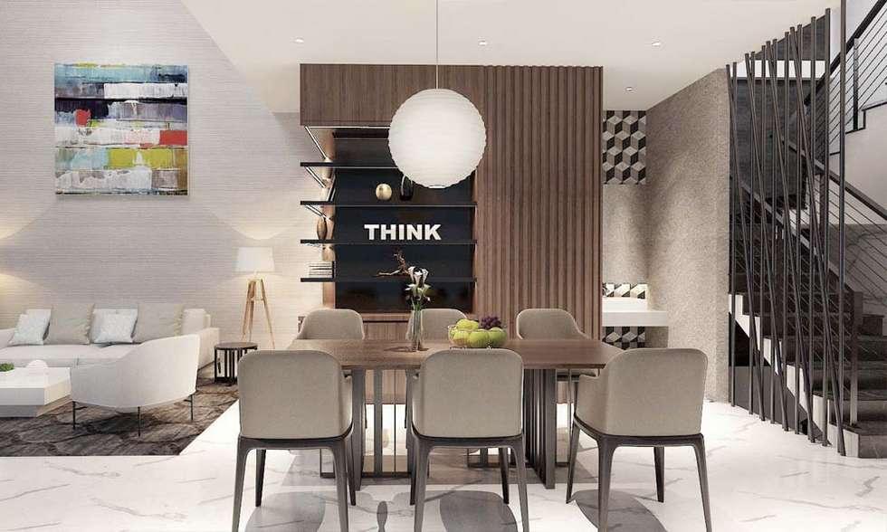 phòng ăn hiện đại:  Phòng ăn by CÔNG TY THIẾT KẾ NHÀ ĐẸP SANG TRỌNG