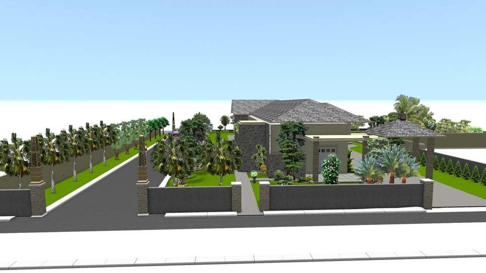 Taman rumah tinggal 5:  Taman by TUKANG TAMAN SURABAYA - jasataman.co.id