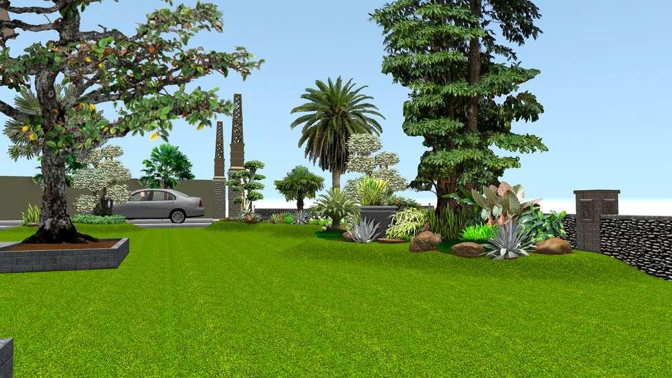 Taman rumah 10:  Taman by TUKANG TAMAN SURABAYA - jasataman.co.id