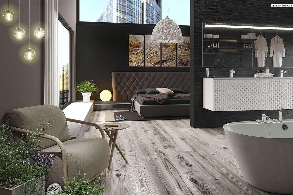Luxury Hotel apartment : minimalistic Bedroom by Linken Designs