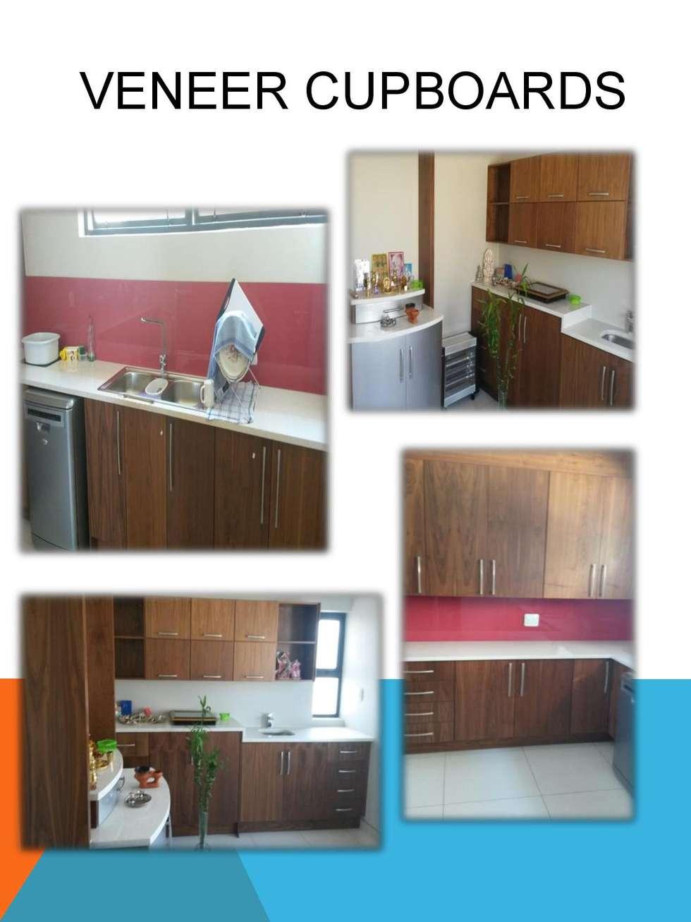 Veneer cupboards : modern Kitchen by SCD Kitchens