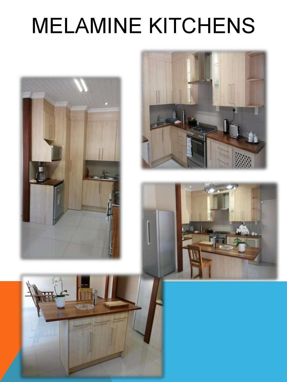 Melamine kitchen:  Kitchen units by SCD Kitchens