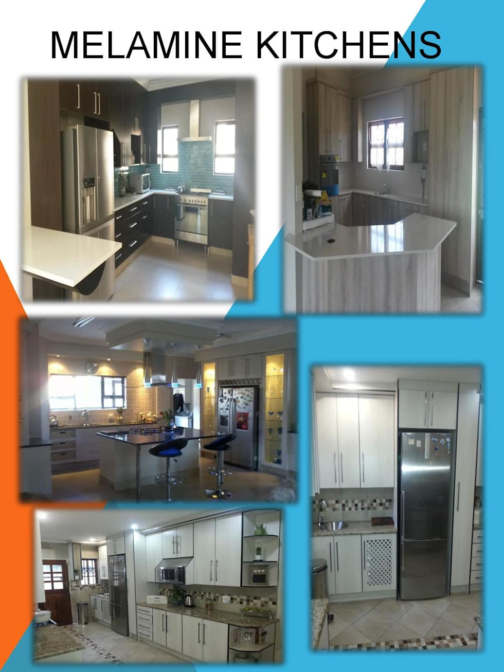 Melamine kitchens:  Kitchen units by SCD Kitchens
