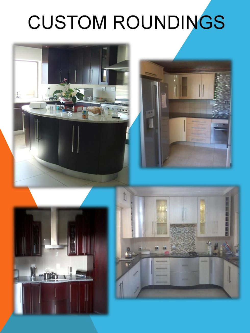 Exclusive roundings:  Kitchen units by SCD Kitchens