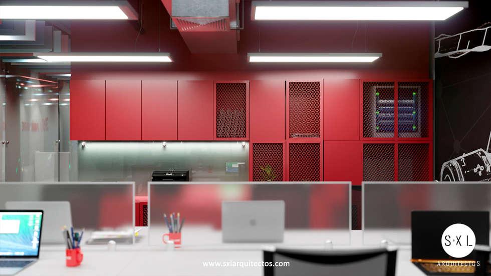 Mueble: Oficinas de estilo moderno por SXL ARQUITECTOS