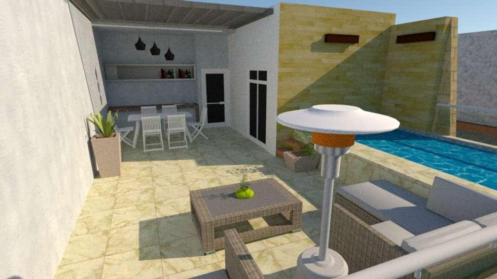 Terrazas De Diseo Cheap Decoracin De Terraza Con Macetas Y Muebles - Diseo-terrazas
