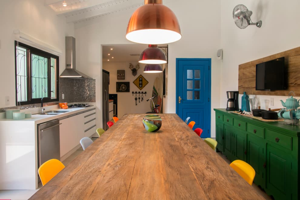 Marcos Contrera Arquitetura & Interiores: rustik tarz tarz Mutfak
