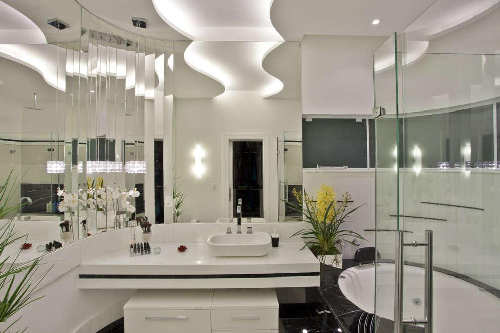 Baños de estilo moderno por Arquiteto Aquiles Nícolas Kílaris