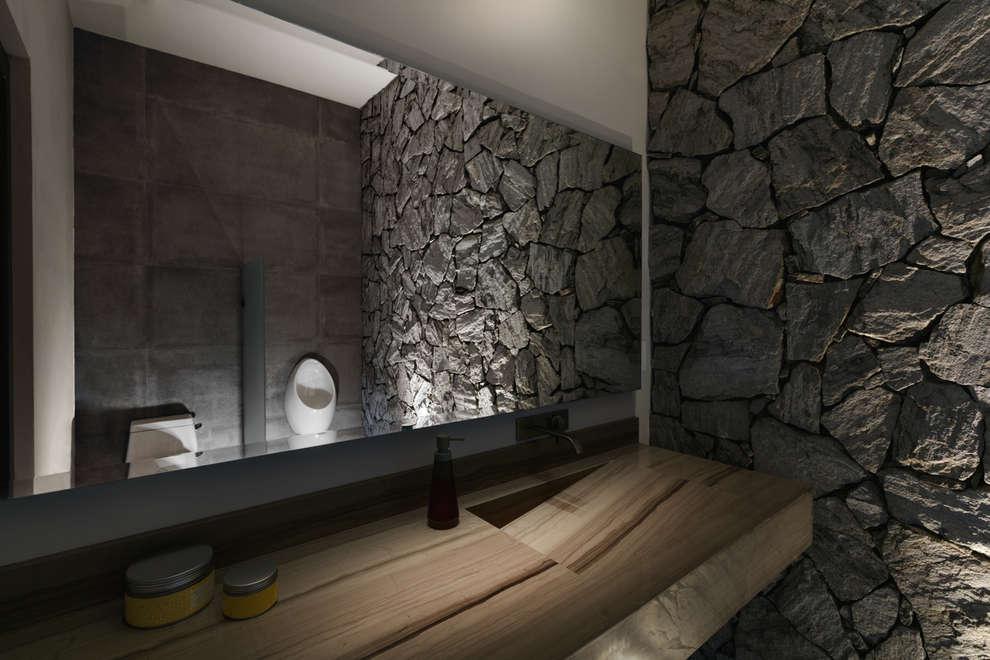 10 ideas con piedra que har n que tu ba o se vea moderno y for Banos con piedra natural