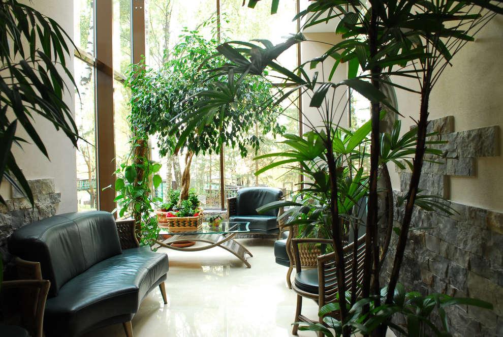 Jardines de invierno de estilo moderno por Армен Мелконян