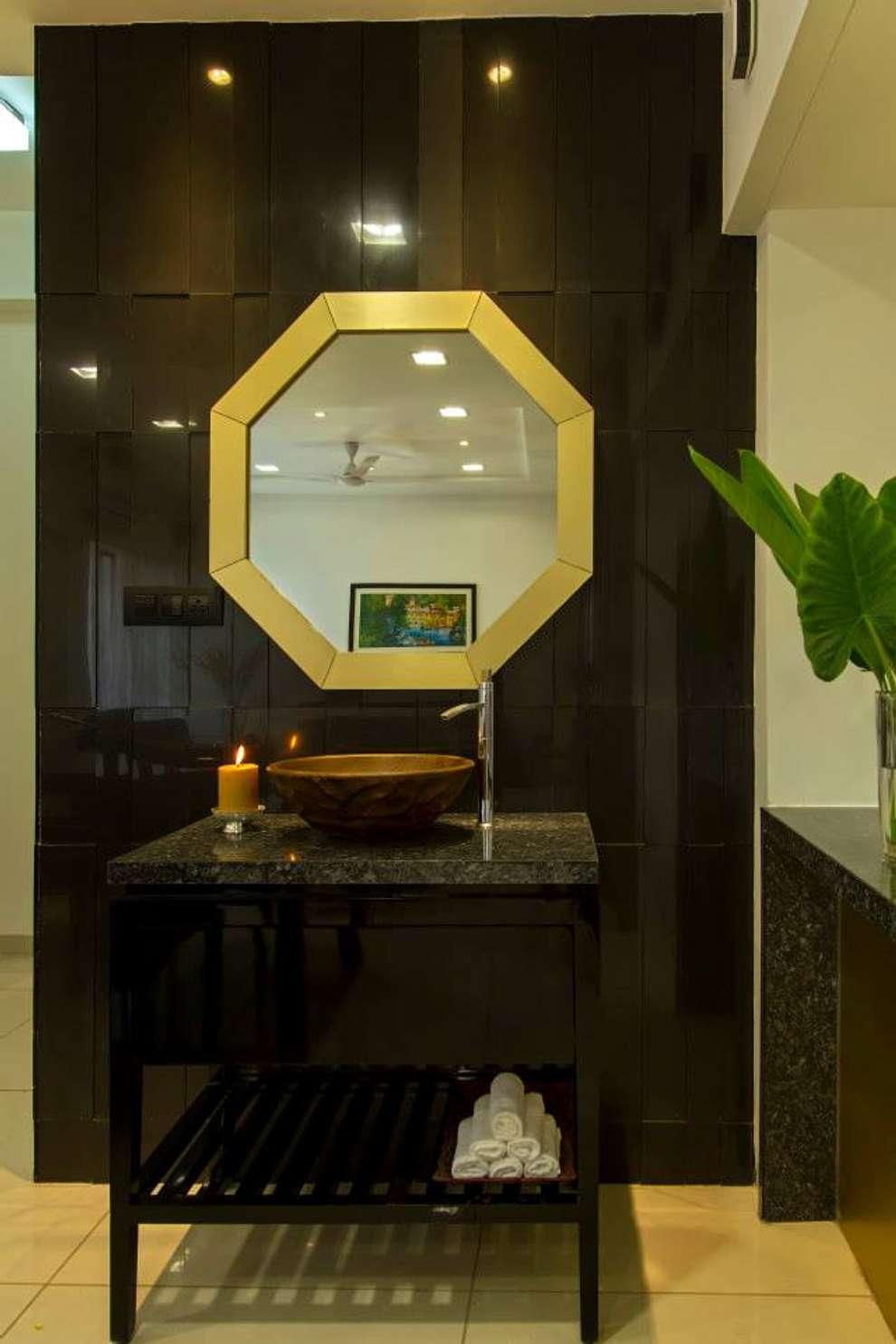 Abhiskhek's Appartment: modern Bathroom by P & D Associates