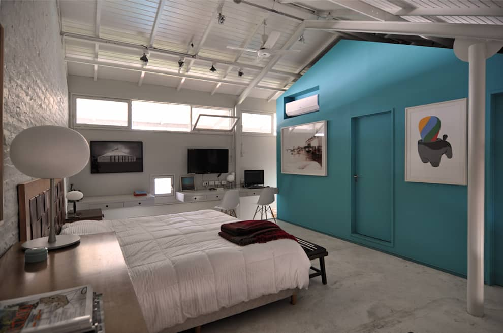 Dormitorio: Dormitorios de estilo moderno por Matealbino arquitectura
