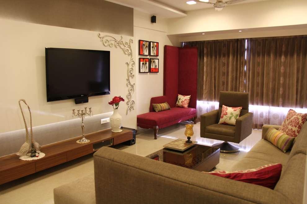 Prabhadevi : minimalistic Living room by Elevate Lifestyles