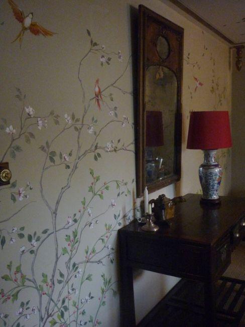 Englische Landvilla Wandmalerei & Oberflächenveredelungen Asiatischer Flur, Diele & Treppenhaus