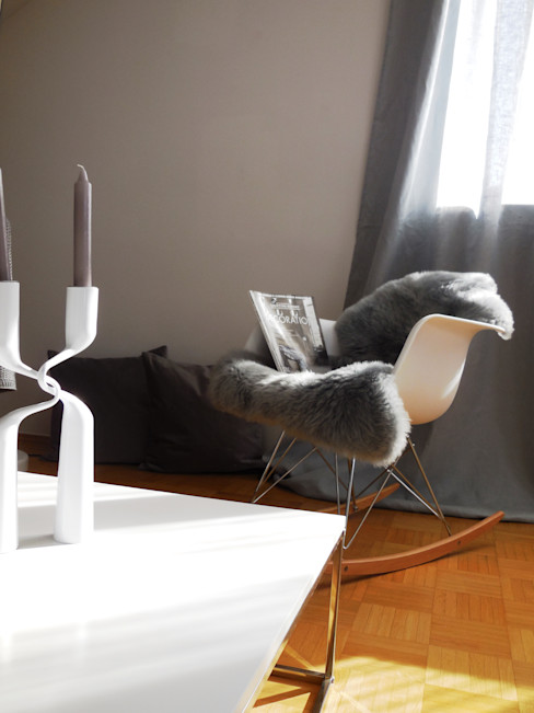 Münchner home staging Agentur GESCHKA Living roomStools & chairs