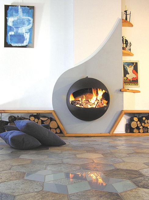 Emifocus DA homify Living roomFireplaces & accessories