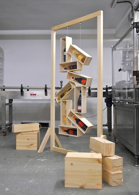 Officina41 Design Group Dining roomWine racks