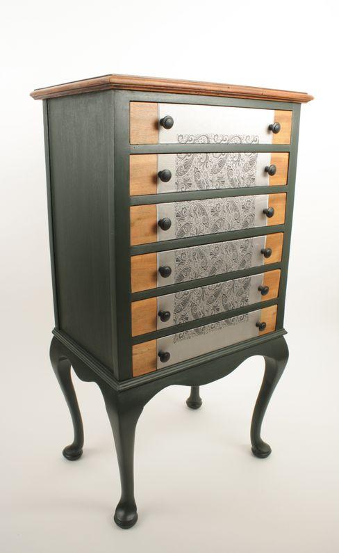 Upcycled Edwardian music cabinet Narcissus Road Furniture Design Sala de estarEstantes