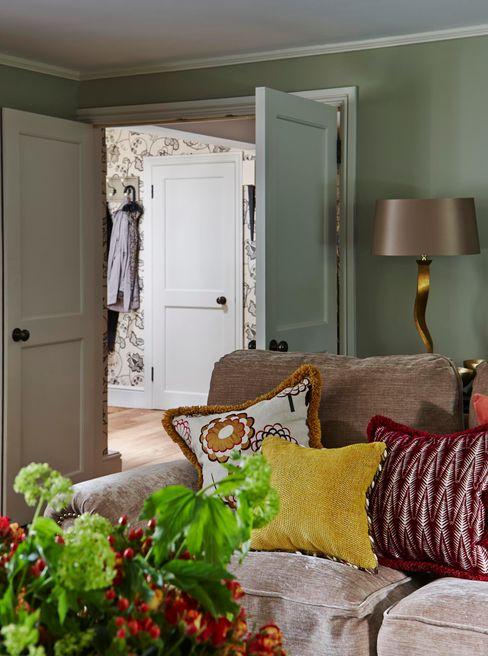 Country Home Living Room Charlotte Crosland Interiors Wiejski salon